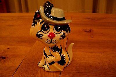 Lorna Bailey Musketeer Cat - Yellow, Blue, Red, White. Superb Condition