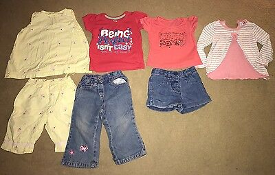 Bundle Of Baby Girls Clothes 9-12 Months (7 Items)