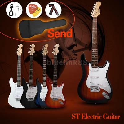 Full Size ST Electric Guitar Cool Gift for Students Learner+Free GigBag Strap
