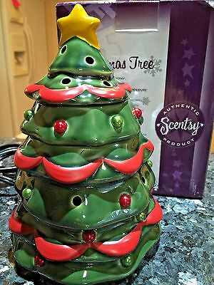 NIB Scentsy  CHRISTMAS TREE Collectible Rare & HTF +Many other holiday warmers
