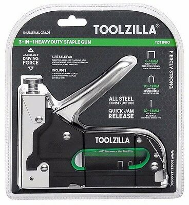 TOOLZILLA® Heavy Duty Staple Gun & 600 Staple Pack (RRP £24.99) Upholstery