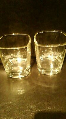 2 x jack daniels tumblers glasses new