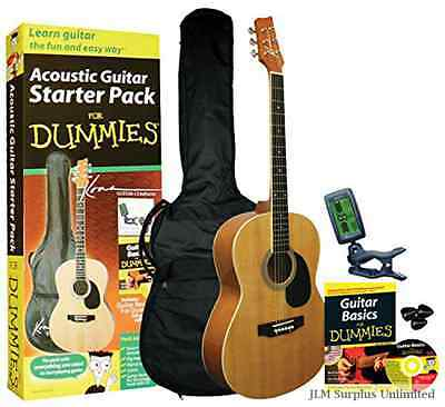 Guitar Dummies Acoustic Starter Pack Audio Gig Set Tuner Use Pick Cr2032 Easy
