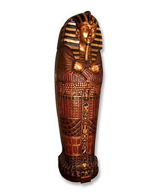 EX-DISPLAY Egyptian Sarcophagus Statue King & Queens of Egypt Egyptian Decor Art