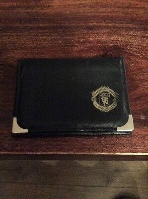 Real Leather Manchester United Football Club Black Credit Card Holder