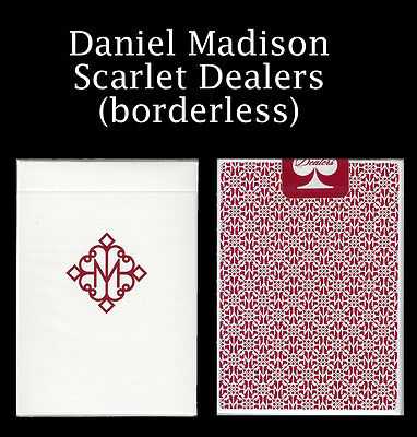 MADISON DEALERS -  Scarlet Red -  No Border - Playing Cards