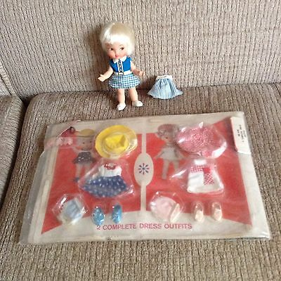 Vintage Remco Hildy Doll and NIP Clothing Lot