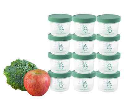 Sage Spoonfuls Big Batch Storage Set 4 Oz. Pack of 12 Baby Food Homemade Freeze