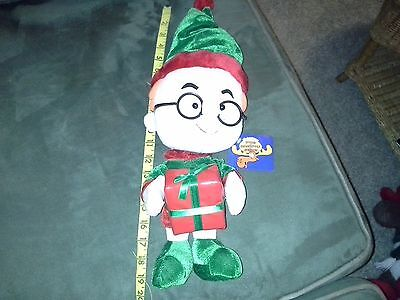 Christmas Holiday Rocky Bullwinkle Sherman Stuffed Doll Toy Network 2001