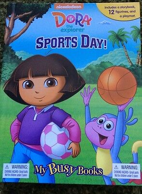 Dora Busy Book With Playmat And 12 Figurines