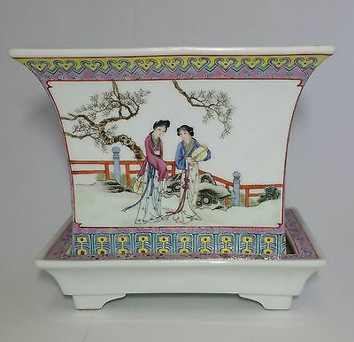 A Fine Chinese Hand Painted Porcelain Planter Republic Period, Signed