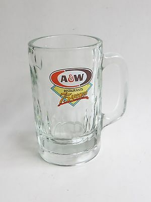 A&W Root Beer Restaurants Collectible 75 Years Thick Heavy Glass Mug