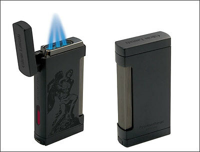 Prometheus God Of Fire Ultimo Cigar Torch Lighter Black Limited Edition W Punche