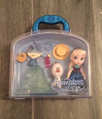 Disney Animators Collection Frozen Elsa Play Set With Case,official,olaf,girls