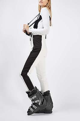 Topshop Sno *white* Skinny Fitted Salopettes  Sizes Uk6_8_10_12_14_16
