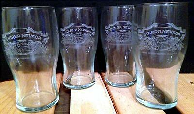 4 Sierra Nevada Brewing Company Beer Glasses New Chico California