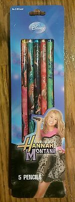 NEW Hannah Montana Miley Cyrus Disney Channel 5 pencils
