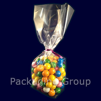 Clear Cellophane Bags with Gusset / Crafts / Sweets / Party Bags Polybags