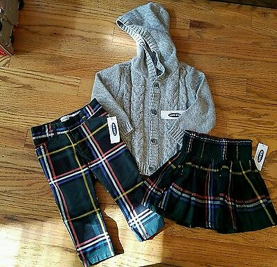 NWT Old Navy 3 piece lot, girls size 12-18 months
