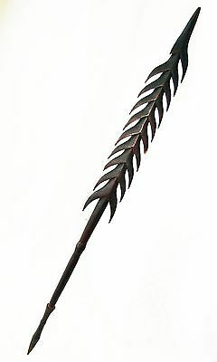 Antique Rennell Islands Wooden Carved Spear - Damages but Still Amazing  (Dil)