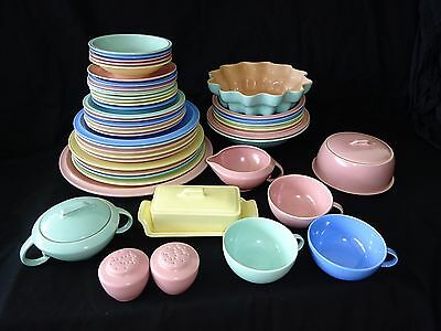 47xPc 1950s US Modern Set of Dishes Ultra California Pat by Vernon Kilns (Ram)