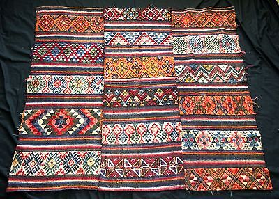 19/20C Central Burma Bumthang Three Panel Wraps Blanket #153B (Eic)