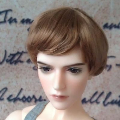 """7-8"""" Brown Synthetic Mohair Wig for 1/4 MSD Doll BJD Girl Boy Dollfie"""