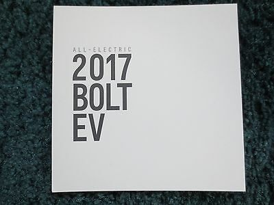 2017 Bolt Ev All Electric First Chevrolet Brochure New And Cool
