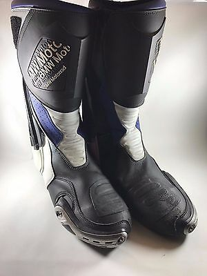 BMW Motorrad Blue & White Motocross~Off Road~Motorcycle~Sport Boots~US Size 11.5