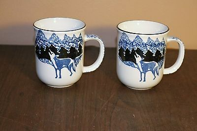 Tienshan - Folk Craft - WOLF - Made in China - Coffee Mugs / Cups (2)