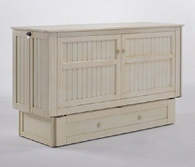 Night & Day Daisy Murphy cabinet bed w gel mattress, buttercream, Queen