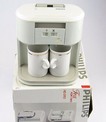 Vintage Philips HD 5192 Tea for Two Teamaker / Teasmade Boxed with Instructions