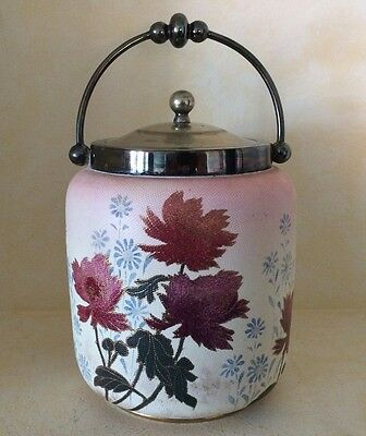 Antique Royal Doulton Burslem Biscuit Jar Textured 1886-1902