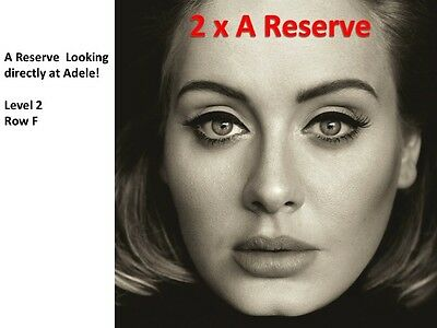 Adele Concert Tickets | Melbourne | 2 x A Reserve | ROW F