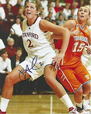JAYNE APPEL Signed 8 x 10 Photo WNBA Basketball STANFORD Stars FREE SHIPPING