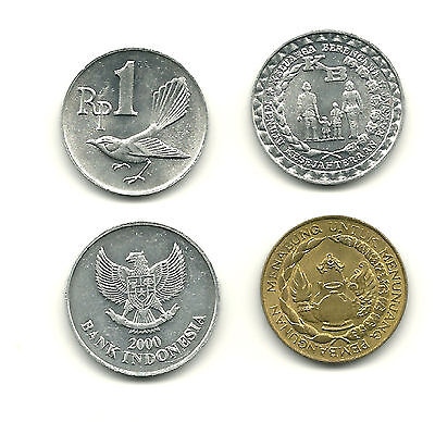 INDONESIA - Group of 4 Different Coins! Nice Issues, GREAT PRICE!