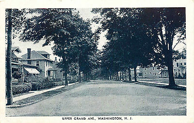 Washington, Upper Grand Ave,  New Jersey, Vintage Postcard