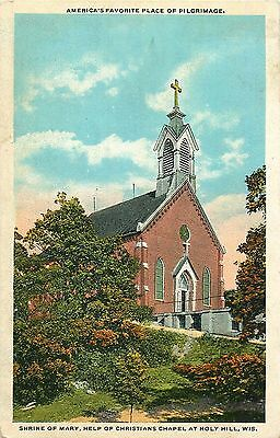 Holy Hill, Help Of Christians Chapel, Wisconsin, Vintage Postcard