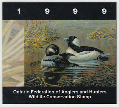Canada - #OW7 1999 Ontario Wildlife Conservation Stamp Booklet - Bufflehead Duck