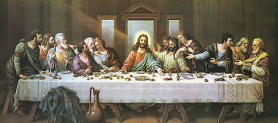"""40"""" large # TOP ART-The Last Supper CANVAS PRINT painting-HOME Church Decor ART"""