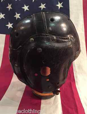 AMAZING Old Antique Early 1940's MACGREGOR Leather Football Helmet