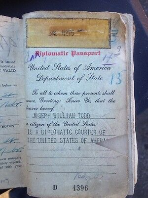 Very Old Very Large Diplomatic Passport 1928