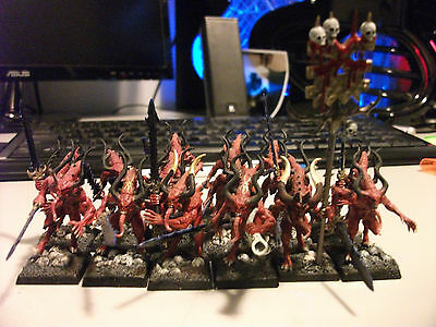 Warhammer Fantasy Age Of Sigmar Daemons of Chaos Khorne blood letters 40K