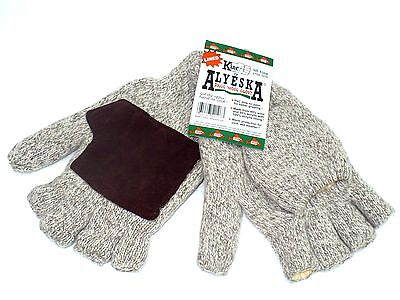 New Kinco Lined Ragg Wool Finger-less Gloves/ /Mittens 5210-XL- Free Shipping