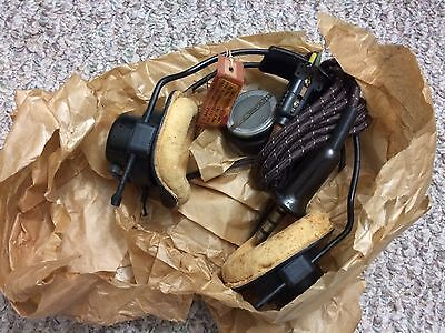 WW2 RAF A Crown M headset, receivers, wiring loom, mic, in  tag wax paper