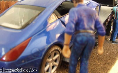 Wrecked 2002 Nissan 350Z customised 1/24 scale diecast