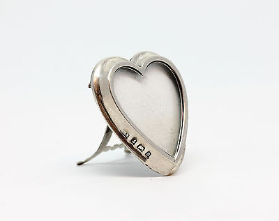 Antique Edwardian Solid Silver Small Heart Shaped Photograph Frame 1901