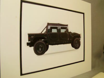 1997 AM General Hummer  artist  Auto Museum Full color Illustrated not photo