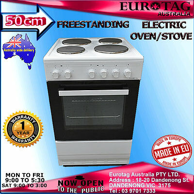 Eurotag 50cm Freestanding Electric Oven Solid Cooktop STOVE RRP$799. Made in EU