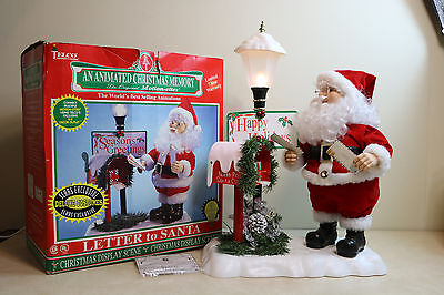Rare Vintage TELCO Motionette Animated Lighted Santa Clause & Mailbox